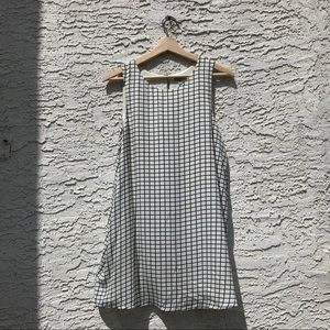 Luca Couture windowpane shift dress